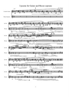 3 poems for Guitar and Mezzo soprano: Nr.1, MVWV 1204 by Maurice Verheul