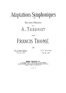 L'adieu aux bois: L'adieu aux bois by Francis Thomé
