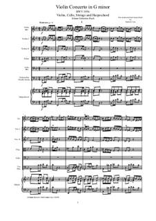 Konzert für Cembalo und Streicher Nr.5 in f-Moll, BWV 1056: Score, parts by Johann Sebastian Bach