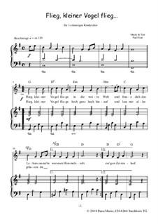 Flieg, kleiner Vogel flieg..., Op.6: Für Chor und Klavier by Paul Nutt