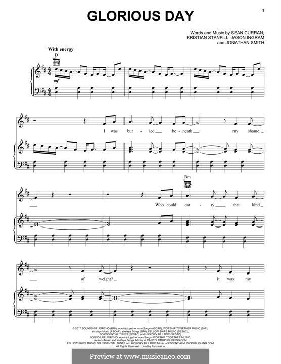 Glorious Day (Passion): Für Stimme und Klavier (oder Gitarre) by Jason David Ingram, Jonathan Smith, Kristian Stanfill, Sean Curran