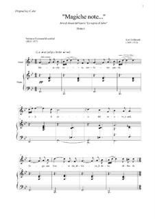 Die Königin von Saba, Op.27: Act II. Magische Töne (Magiche note), for Voice and Piano (B Flat Major) by Karl Goldmark