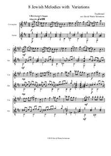 Eight Jewish Melodies: Complete set, with variations for cor anglais and guitar by folklore