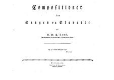 Selim und Mirza: Heft I. Bearbeitung für Solisten, Chor und Klavier by Hardenack Otto Conrad Zinck