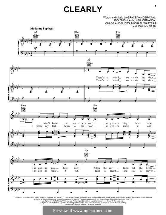 Clearly: Für Stimme und Klavier (oder Gitarre) by Johnny Nash, Ido Zmishlany, Neil Ormandy, Grace VanderWaal, Chloe Angelides, Michael Watters