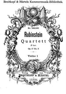 Quartett für Streicher Nr.3 in F-Dur, Op.17 No.3: Violinstimme I by Anton Rubinstein