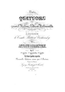 Quartett für Streicher Nr.3 in F-Dur, Op.17 No.3: Vollpartitur by Anton Rubinstein