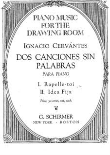 Zwei Lieder ohne Worte: Zwei Lieder ohne Worte by Ignacio Cervantes