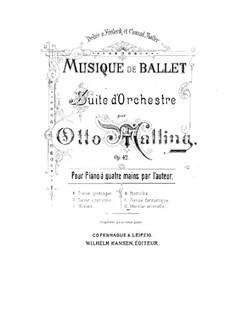 Ballettmusik, Op.42: Nr.6 Marche solenelle, für Klavier, vierhändig by Otto Malling