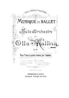Ballettmusik, Op.42: Nr.2. Danse gracieuse, für Klavier, vierhändig by Otto Malling