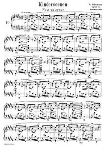 Nr.10 Fast zu ernst: Für Klavier by Robert Schumann