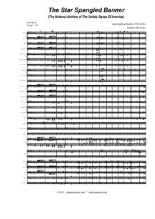 The Star Spangled Banner (National Anthem of The United States): For ensemble instruments – full score, parts by John Stafford Smith