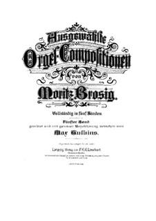 Ausgewählte Orgel-Kompositionen: Band V by Moritz Brosig