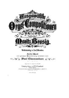 Ausgewählte Orgel-Kompositionen: Buch II by Moritz Brosig