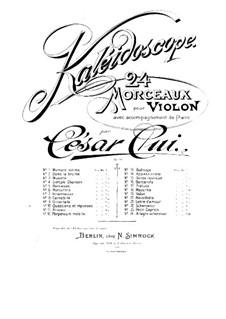 Nr.16 Barkarole: Solostimme by César Cui