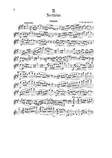 Zwei Stücke für Violine und Klavier, Op.24: Nr.2 Nocturne – Stimme by César Cui