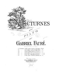 Drei Nocturnes, Op.33: Nocturne Nr.1 in es-Moll by Gabriel Fauré