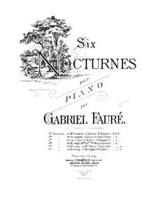 Drei Nocturnes, Op.33: Nocturne Nr.3 in As-Dur by Gabriel Fauré