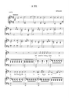 A te: A te by Giacomo Puccini