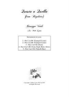 Questa o quella: Für Blechblasquintett by Giuseppe Verdi
