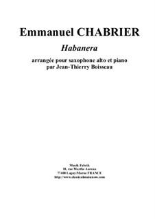 Habanera: Für Altsaxsophon und Klavier by Emmanuel Chabrier