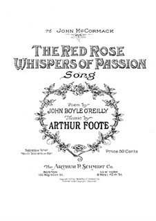 The Red Rose Whispers of Passion: The Red Rose Whispers of Passion by Arthur  Foote