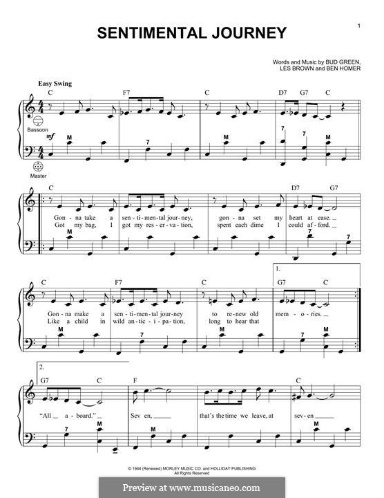 Sentimental Journey: Für Akkordeon by Bud Green, Benjamin Homer, Lew Brown