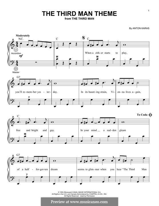 The Third Man (The Harry Lime Theme): Für Akkordeon by Anton Karas