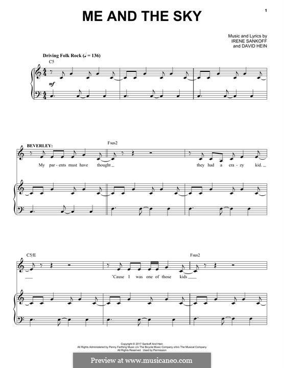 Me and The Sky: Für Stimme und Klavier by Irene Sankoff, David Hein