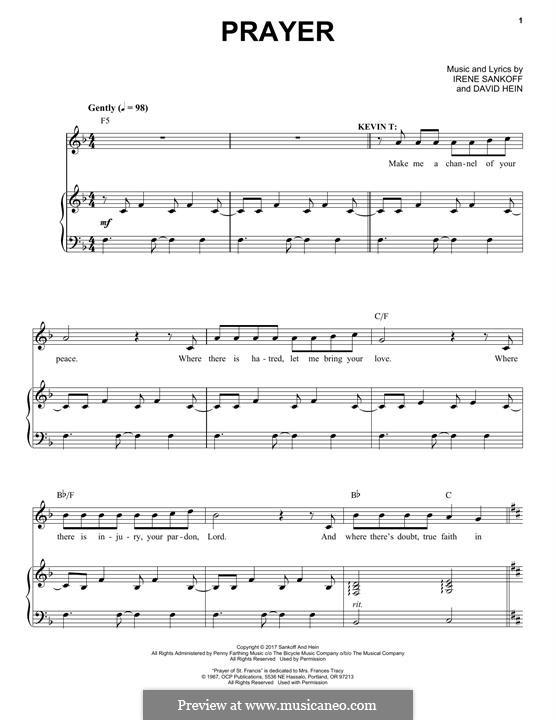 Prayer: Für Stimme und Klavier by Irene Sankoff, David Hein