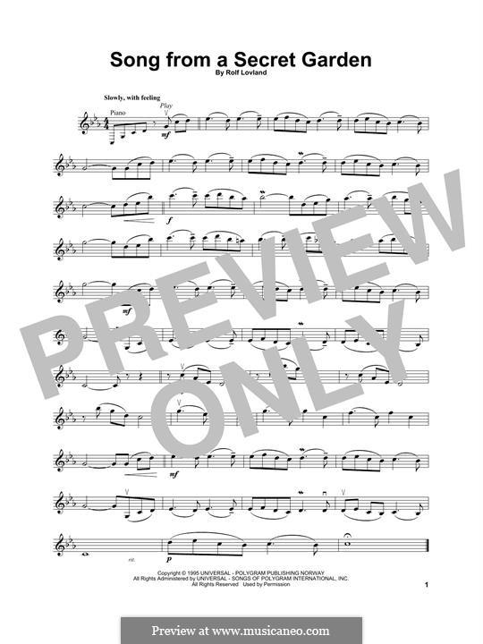 Song from a Secret Garden: Für Violine by Rolf Løvland