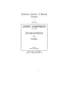 Poetische Studien (Sammlung), Op.53, 59: Für Klavier by Ernst Haberbier
