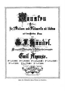 Triosonate in F-Dur, HWV 401 Op.5 No.6: Bearbeitung für Streicher und Klavier by Georg Friedrich Händel