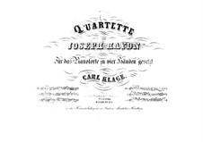 Streichquartett Nr.60 in G-Dur, Hob.III/75 Op.76 No.1: Version für Klavier, vierhändig by Joseph Haydn