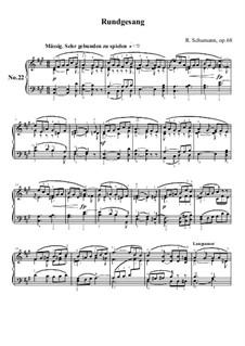 Nr.22 Rundgesang: Für Klavier by Robert Schumann