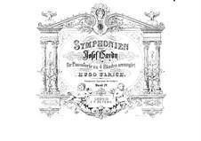 Sinfonien (Sammlung): Band IV. Version für Klavier, vierhändig by Joseph Haydn