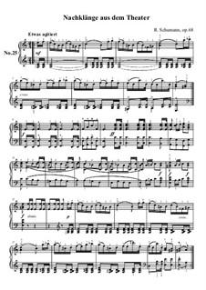 Nr.25 Nachklänge aus dem Theater: Für Klavier by Robert Schumann