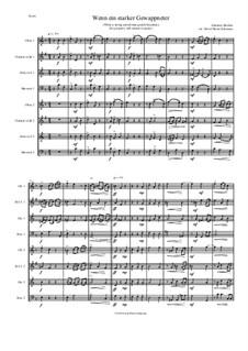 Fest- und Gedenksprüche, Op.109: Nr.2 Wenn ein starker Gewappneter, for wind octet (2 oboes, 2 clarinets, 2 horns, 2 bassoons) by Johannes Brahms