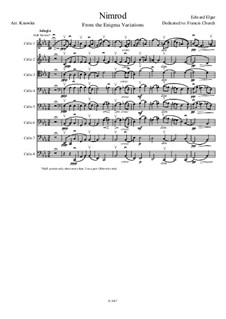 Variation Nr.9 'Nimrod': For cello octet by Edward Elgar