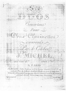 Sechs Duette für zwei Klarinetten, Op.5: Duett Nr.1 by Michel Yost