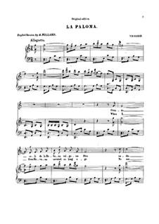 La Paloma (Die Taube): C-Dur by Sebastián Yradier