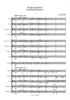 Simple Symphony for Small Orchestra: Simple Symphony for Small Orchestra by Jordan Grigg