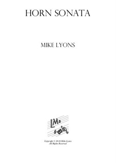 Horn Sonata No.1: Complete by Mike Lyons
