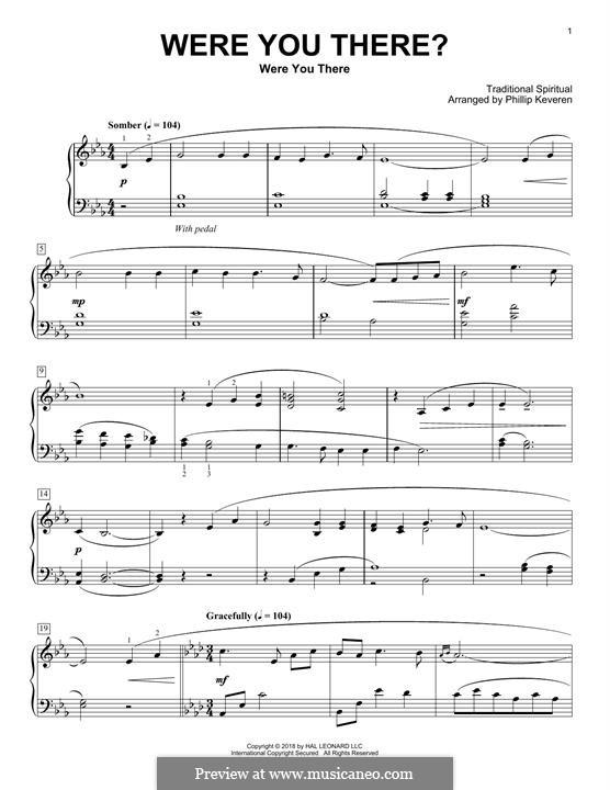 Were You There: Für Klavier by folklore