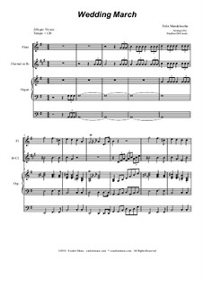 Hochzeitsmarsch: Duet for flute and Bb-clarinet by Felix Mendelssohn-Bartholdy