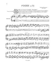 Fuge für Orgel in C-Dur, BuxWV 174: Für einen Interpreten by Dietrich Buxtehude