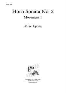 Horn Sonata No.2: 1st. Movement - Andante a piacere by Mike Lyons