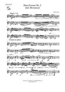 Horn Sonata No.2: 2nd. Movement - Adagio by Mike Lyons