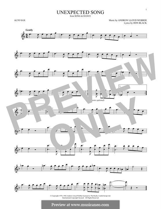 Unexpected Song: Für Altsaxophon by Andrew Lloyd Webber