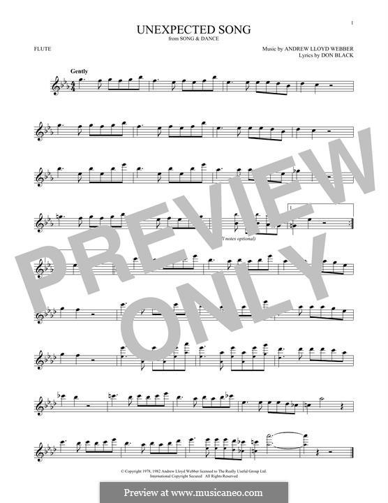 Unexpected Song: Für Flöte by Andrew Lloyd Webber